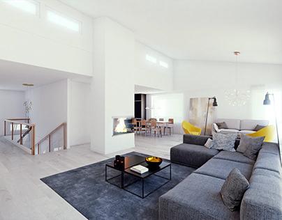 Scandinavian interior design and visualization