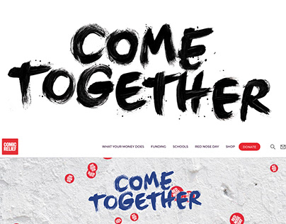 Comic Relief: Red Nose Day identity, hand lettering