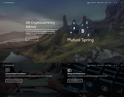 Mutual Spring Identity + Web Design