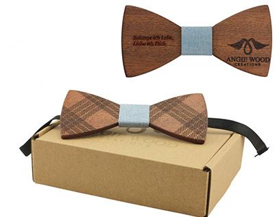 Buy Beautiful Wooden Bow Tie Online