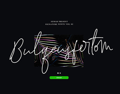 FREE DOWNLOAD Bulqeusfertom-Signature Fonts