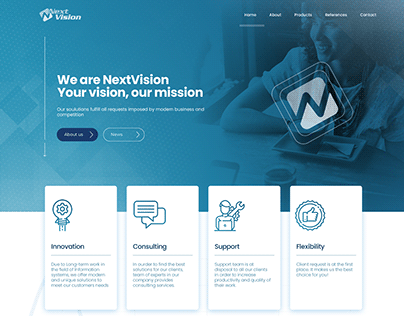 NextVision | Corporate web concept