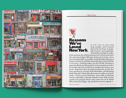 Spot Illustrations · Reasons To Love NY | New York Mag