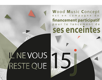 Affiche campagne Ulule Wood Music Concept