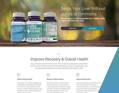 1-Page E-commerce Site for Detox Supplement