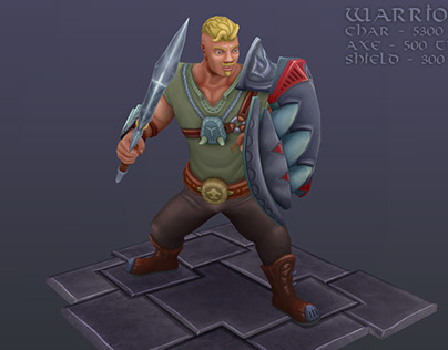 Warrior Character ( game ready )