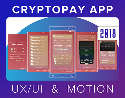 Cryptopay App | UI/UX Design | Motion