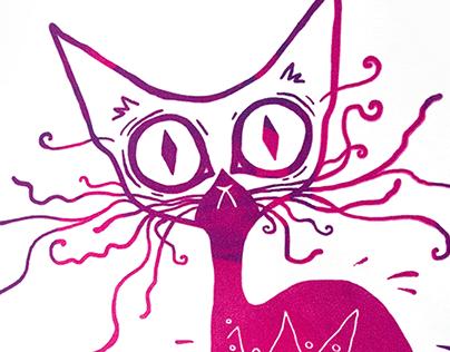 Screenprint cat
