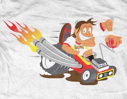 WWE cartoon-style shirts