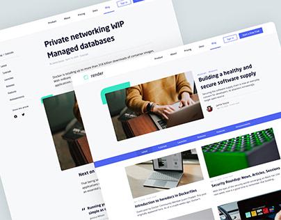 Render Tech Blog Design