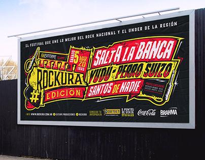 Rockura #1 Edición. Flyer y gráfica general x evento.