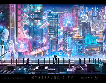 Cyberpunk City:01 _Ghost in the Shell Cyberpank city