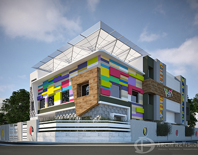 Exterior Visualization of a School
