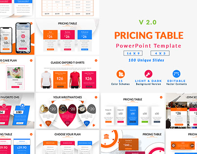 Pricing Table v2.0 PowerPoint Template
