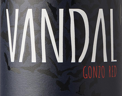 VANDAL wine label design