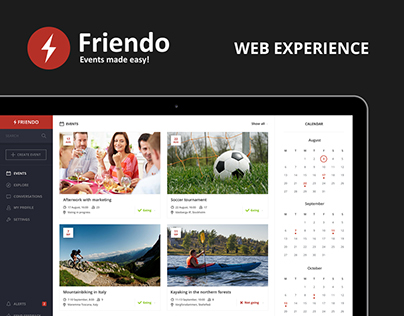 Friendo Events - Web experience