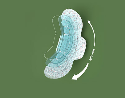 Sanitary pad 3d Modeling and Rendering