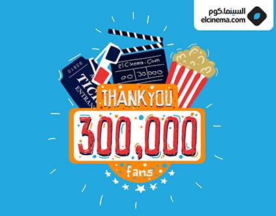 300K fans - Social Media Poster