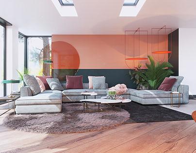 Hillhouse. Livingroom
