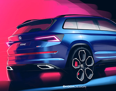 Press Sketch - Škoda Kodiaq RS