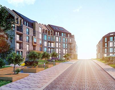3D RENDER OF THE RESIDENTIAL COMPLEX