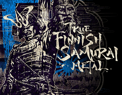 True Finnish Samurai Metal - T-shirt design