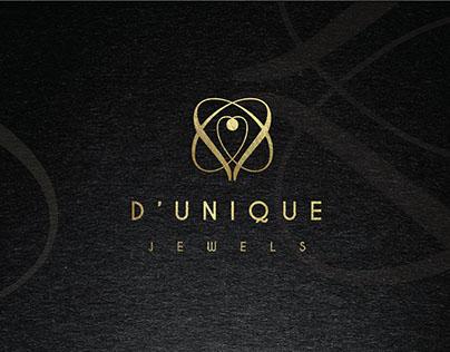 D'Unique Jewels : Logo Branding