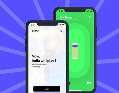 Mobile App UX/UI Redesign (CricPlay)