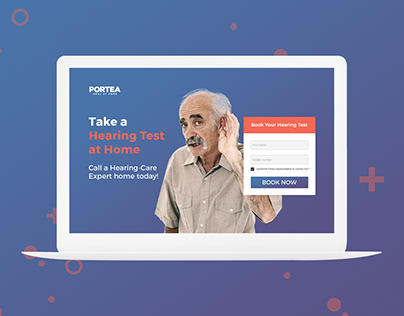 Landing page for Hearing Test & Heaing Aids