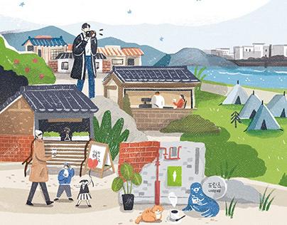 Trip in Korea|Travel illustration column