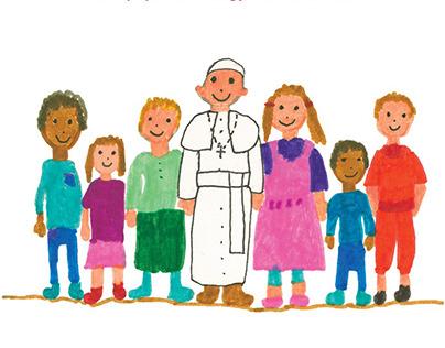 Kedves Ferenc pápa! - könyvborító, tördelés és design