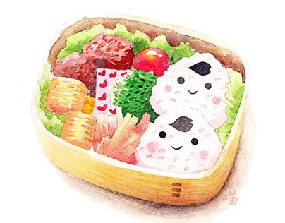 watercolor sushi