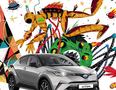 Toyota Hybrid - Illustration Series