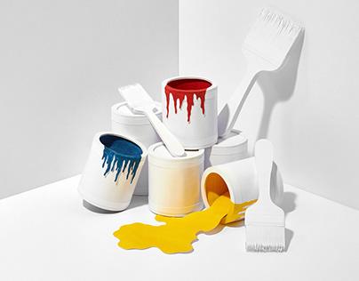 """Primary"" - paper craft still-life series"