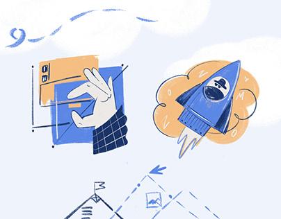 illustrations for web platform