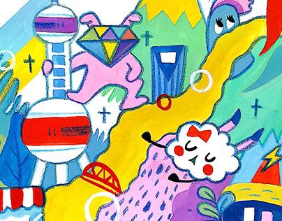 Illustration for Shanghai