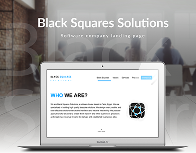 Black-squares solution (BSS) WEBSITE - UX\UI Design