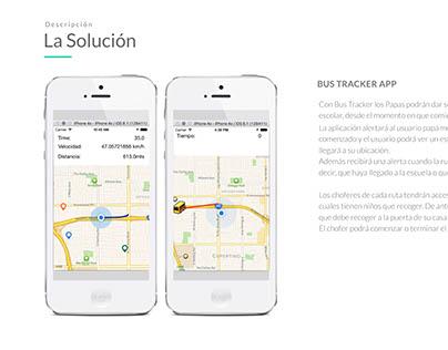 Andoird and iOS app for school bus geolocalization