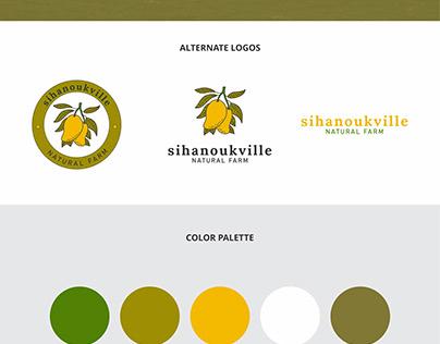 Natural Farm Logo, Variations and Palette Design