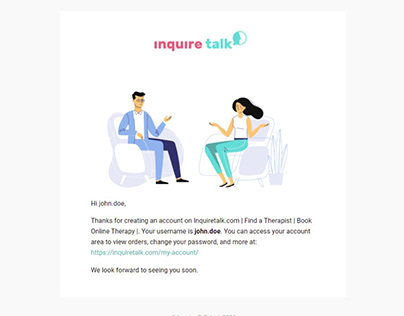 Email Design for Inquiretalk.com