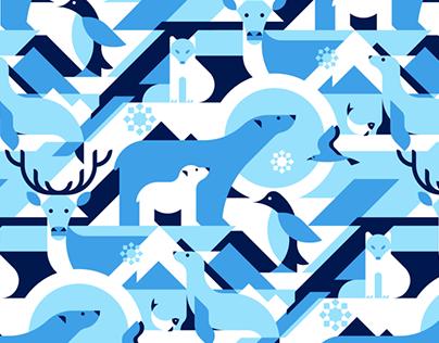 10 seamless animal patterns
