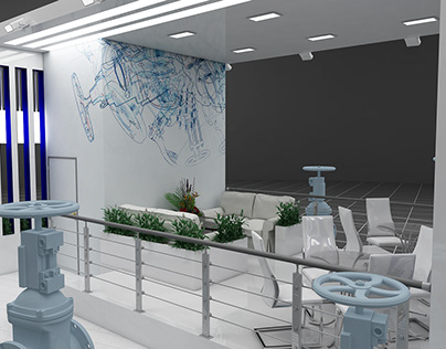 Design of the exhibition stand of Gas and Service