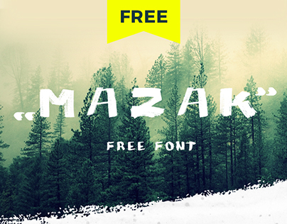 """MAZAK"" free font."