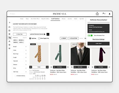Tie E-Commerce Site