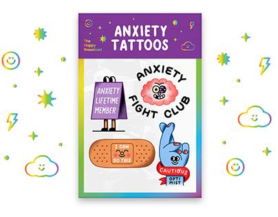 Anxiety Temporary Tattoos