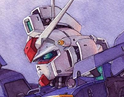Gundam GP01 Watercolor