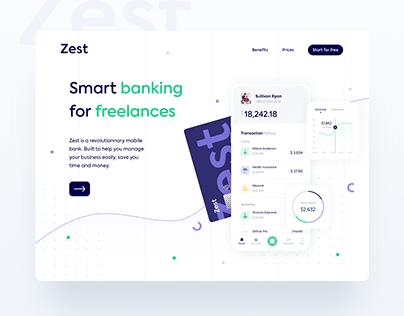 Zest - UI/UX/Branding