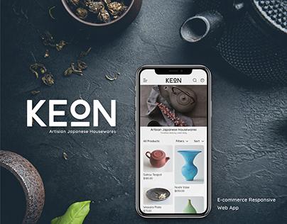 Keon E-commerce App Design UX/UI