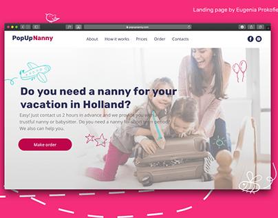Popupnanny website design and development on Tilda