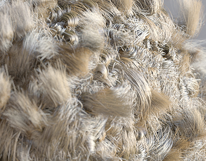 Hair rendered with Arnold